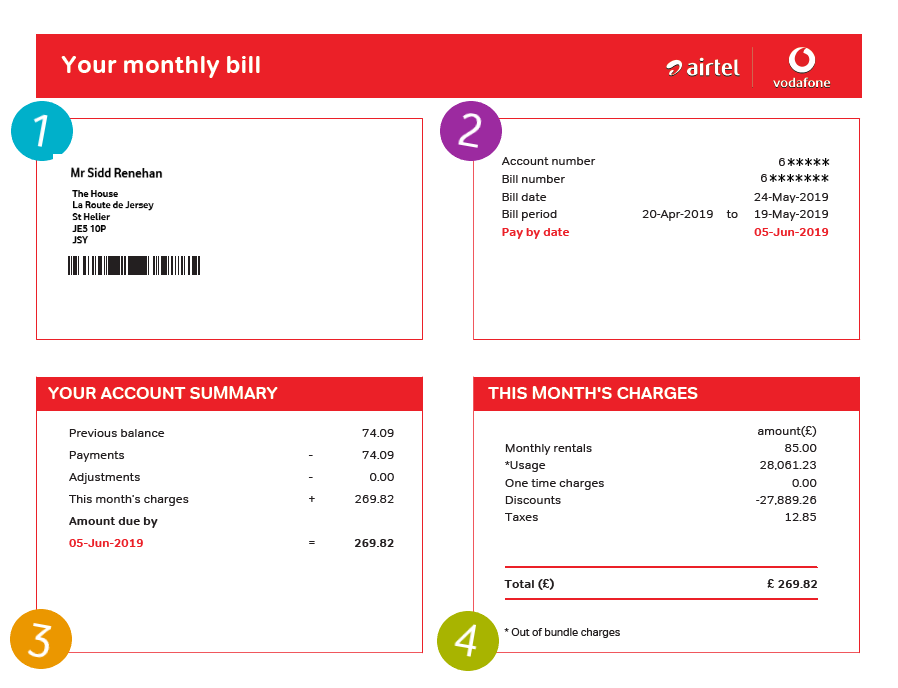 Make the most of my bill | How to guides | Support | Airtel-Vodafone
