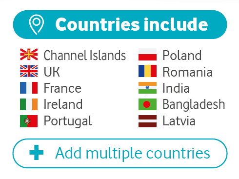 3p calls to countries include Channel Islands, UK, France, Ireland, Portugal, Poland, Romania, India, Bangladesh, Latvia
