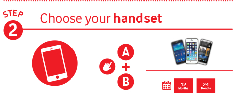 Step 2 - Choose your handset