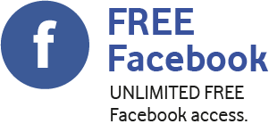FREE Facebook, UNLIMITED FREE Facebook access.